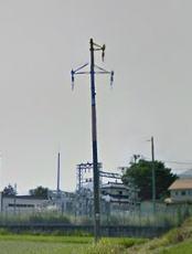 郡山市関森変電所と送電柱