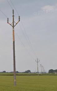 関森線の33000V電柱