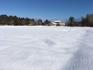 雪の事務所②